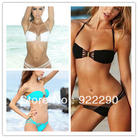 Bikini Set Push up Free shipping 2013 Fashion Holiday Summer Women Hot Sexy Swimsuit Swimwear TOP Padded  S M L , 1 set  T72