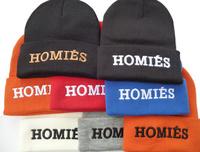 FREE SHIPPING 16 Colors 2014 newest cheap HOMIES Beanie Black Men Women hip hop new arrival hot sale wholesale B823