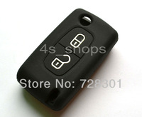 Black Silicone Case Cover Holder Protecting Bag Fit For Citroen  C1 C2 C3 C4 C5 C6 C8 C-Quatre XSARA PICASSO With 2 Buttons