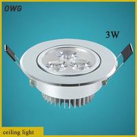 5pcsLED 3w spotlight the sitting room condole top ceiling light  energy saving light LED Ceiling  light  Light Wholesale
