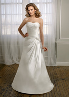 Grasp The New 2013 Beads Satin Wedding Dress Design Is Novel, Smooth Lines, Dress Easy And Free Shipping.