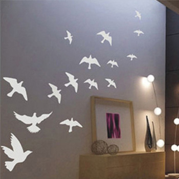 Free Shipping Flying Pigeon Bird Living Room Bedroom Decor Mural Art Vinyl Wall Sticker Home Window Decoration Decal OW064