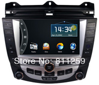 Free shipping car dvd navigation  for accord 7 with free gps map and free rear view camera