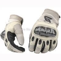 Carbon fiber armor tactical gloves genuine leather swat combat gloves tactical assault gloves hiking racing fishing gloves