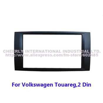 Free shipping Car DVD Refitting Frame, Car Dashboard Kit, Front Bezel, Fascia Facia Trim for VW  Touareg, T5 double din