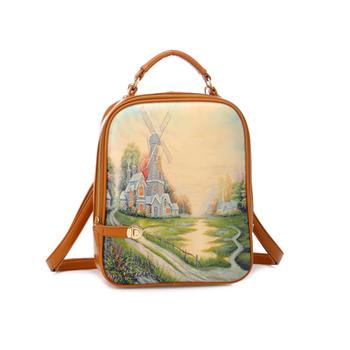 Fashion fashion vertical square soft terylene backpack credential pocket bag women's handbag backpack bag female casual bag
