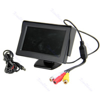 Free shipping 4.3 Inch LCD TFT Rearview Monitor Cars Rear View System For Car Backup Camera