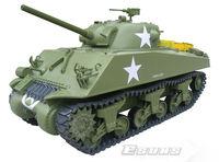 Freeshing RC model ET602R Electric Tanks 1/6 M4A3 Sherman Tank - 75mm Gun EP RTR  2.4G 6 Channels