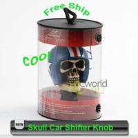 Free Shipping Universal Gear Car Shifter Knob Skull Shift knob Skeleton Lever Car Truck Auto Shift knob Gear