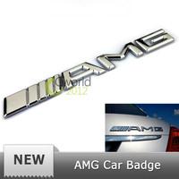 Free Shipping 3D car badge sticker AMG metal emblem trunk rear decal logo badge
