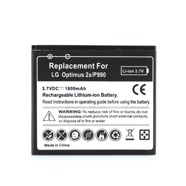 For LG Optimus P990 P920 Optimus 3D P993 Phone Replacement 1800mah Battery Bateria Top Qaulity Free Shipping(China (Mainland))