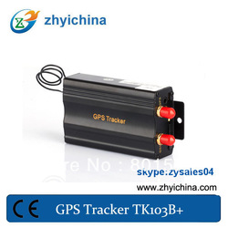 China dual sim card car gps tracker device TK103B+ support central lock(China (Mainland))
