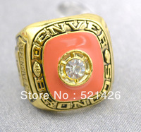 1977 AFC Player of the Year Denver Broncos Alzado replica championship rings,18k gold plated,free shipping