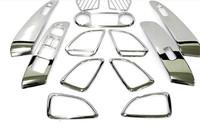 Interior Trim Interior Molding Trim For Hyundai IX35/TUCSON IX 2009-2012  ABS Chrome 13pcs per set