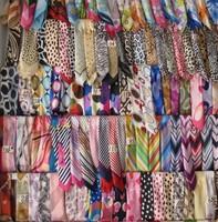 Female work wear faux silk scarf small silk scarf all-match silk scarf leopard print scarf small facecloth