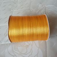Nov sale ! Free shipping 3mm x 880 Yard Gold double side ribbons satin ribbon wedding ribbon Color # 17 Golden Yellow