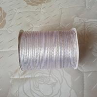 Sep sale ! Free Shipping 3mm x 880 Yard gold double side Satin  ribbon White wedding ribbon #01