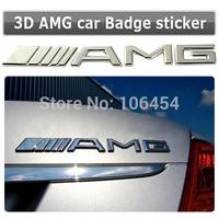 3D Metal Logo Chrome Emblem Sticker Badge CLK AMGRear Mercedes Trunk Decal Silver Class For Benz Car
