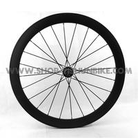 Freeshipping! 700C 60mm full carbon tubular wheel with cheap price, 2:1 rear spoke ratio,YS-CC2-60T
