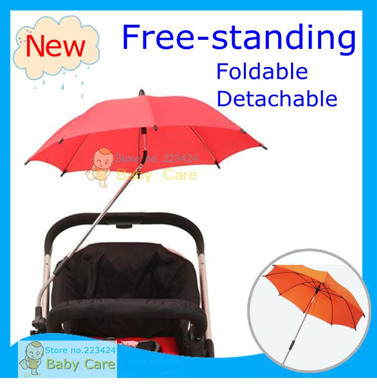 Brand new Sunshine Kids Buggy Shade baby stroller Parasol adjustable folding umbrella detachable safest Fiber frame 5 colors(China (Mainland))