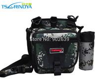 Trulinoya Camouflage Waist Fishing Bags 22*20*10cm Moisture Free Fishing Tackle Bag