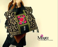 Freeshipping 2013 new fashion national trend embroidered handbag shoulder bag canvas bag cross-body handbag