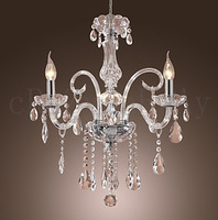 free  shipping 45L*45W*42H cm  Moddern Crystal Chandelier with 3 Lights Candle chandelier  Transparent Crystal