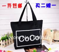 2013 Canvas bag women's handbag fashion coco bags eco-friendly shopping bag,Free Shipping