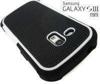 White Defender Heavy Duty Protective Cover Case Samsung Galaxy S3 Mini GT-i8190