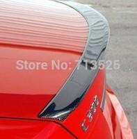 fit for Mercedes Benz C-CLASS W204 rear spoiler wing trunk lip CFRP real carbon fiber reinforced polymer