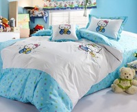 New arrival hello kitty bedding set twin size for kids/cjildren bedding set