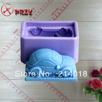 car shape Soap mould New style large wholesale  hot sale chocolate silicon mold  fondant Cake decoration mold  NO.si094