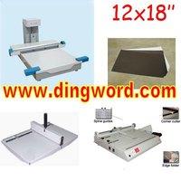 Flush Mount Wedding Album Making Machines 12x18 inch Photo Book Binding Machine Package
