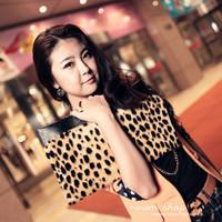 Women's handbag 2012 autumn and winter fashion leopard print bag envelope bag shoulder bag messenger bag day clutch