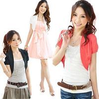 New 2014 Summer women fashion Candy Crochet Knit Top Thin Blouse Summer Cardigan Sweater Short Coat