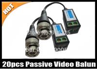 20pcs CCTV Camera Passive Video Balun BNC Connector Cat5 UTP Coaxial line