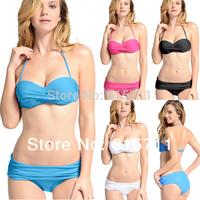 2014 Newest Sexy Swimwear For Women Twisted Padded Top & Bottom Swimwear Bikini 4 Colors S/M/L #PA014