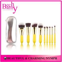Promotion 9 pcs Synthetic Hair Stage Make Up Tools Makeup Brush Set  Travel Kit