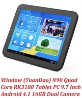 Promotion New Arrivals Vido N90 SRK Quad Core tablet pc 9.7 inch HD Screen 1GB RAM 16GB ROM Dual Cemera HDMI