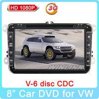 "2014 New 8"" Hot GPS DVD Player for VW Jatta Golf MK5 Golf 5 6 T5 VI Passat B6 Polo Tiguan Touran Caddy 3G Internet + Canbus"