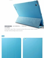 (10 Colors Option)  Smart Cover PU Leather Slim Magnetic Stand Case Cover for New iPad 2/ 3 tablec pc
