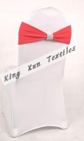Hot Sale Red Color Lycra Chair Band With New Buckle Can Be Used For Many Kinds Of Chair Cover