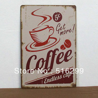 [ Mike86 ] Get More Coffee Metal signs Art  wall decor House Cafe Bar Retro tin signs AA-29 Mix order 20*30 CM