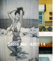 180*200 cm Bettie Page shower curtain PinUp Sexy Retro HOT,Free shipping and gift