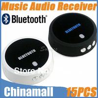Wholesale Mini Bluetooth 3.0 A2DP Music Mic Audio Receiver Adapter Partner For iPod iPhone 4 5 IPAD Free Express 15pcs/lot