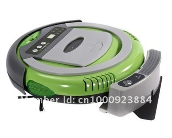 Robotic vacuum cleaner -4 in 1 multifunctional cleaner,5 working mode,RF control,low noise,the best vacuum ,best robot