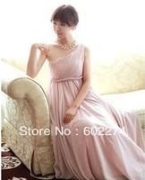Formal Oblique Long Design One Shoulder Evening Dress Sisters