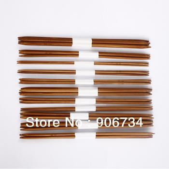 11 x 4pcs 25cm Double-Pointed Bamboo Knitting Needles Size Range: 2.0-5.0mm Free Shipping
