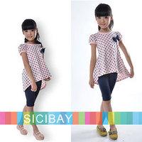 Fashion Kids Clothes Children Baby Clothing Set,Family Clothing,Girls Suits, Dot Tshirts + Skinny Leggings,Free Shipping K0527