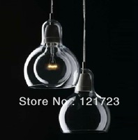 Brief personalized big bulb pendant light small glass balls pendant lighting pendant light bulb bar lighting 2 heads